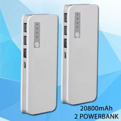 2 Branded 20800mAh Power Banks
