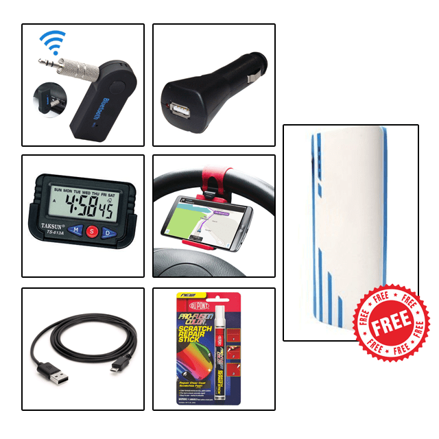 CAR ACCESSORIES COMBO with Free 20800mAh Power Bank