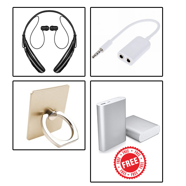 3 Mobile Accessories with Free 10400mAh Power Bank
