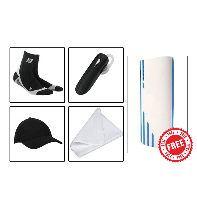 SUMMER COMBO - Cap + Bluetooth + Socks + Hanky with Free 20800mAh Power Bank