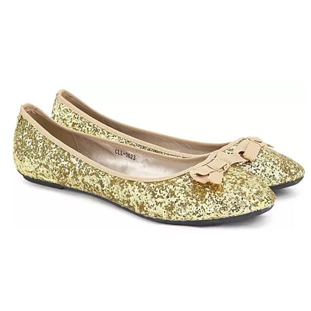Carlton London Bellies for Women (Gold)