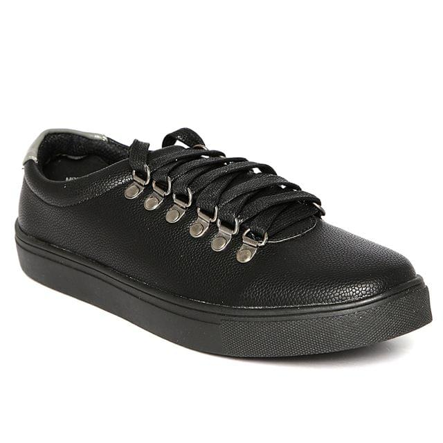 Carlton London Black Casual Shoes for Men