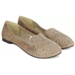 Carlton London Bellies for Women (BROWN)