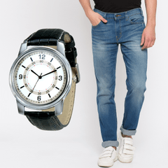 Summer Special Blockbuster @ Rs. 399 (1 Men Jeans + Stylish Analog Watch)