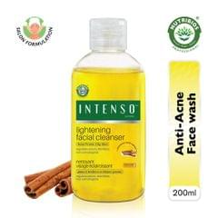 Intenso Lightening Facial Cleanser (Face wash) for Acne Prone Skin -200 ml