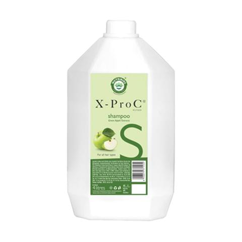 X-Pro C Backwash Shampoo with Green Apple Extracts for all Hair Types - 4 Litres