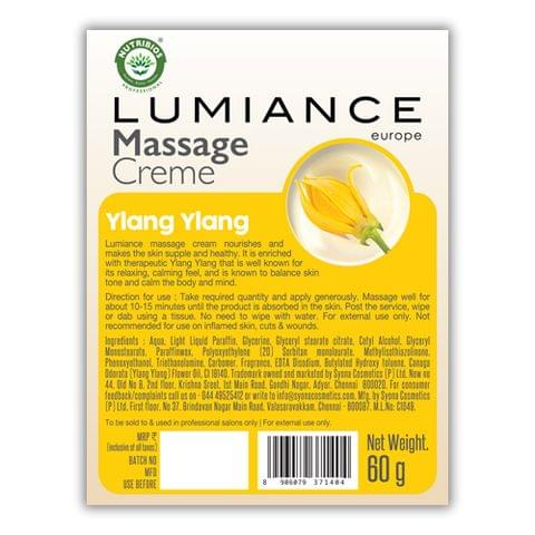 Lumiance Massage Cream (single use) with Ylang Ylang  60g (Pack of 10)