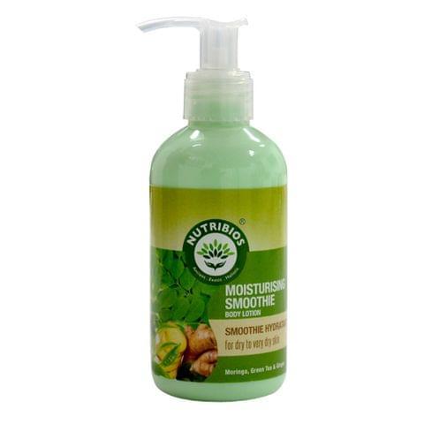 Nutribios Moisturising Smoothie (Body Lotion) with Moringa, Green Tea & Ginger 200 ml