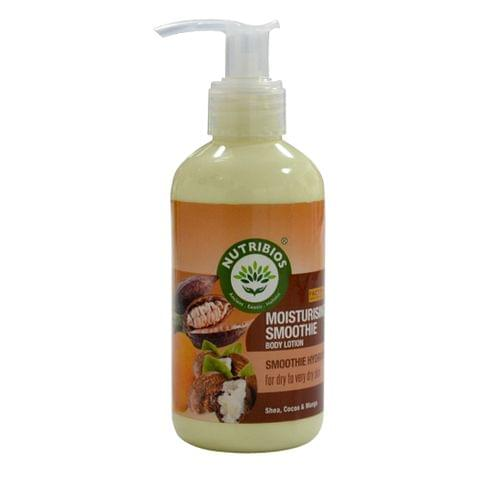 Nutribios Moisturising Smoothie (Body Lotion) with Cocoa, Shea, Mango [Factor 5 star safe formula] 200ml