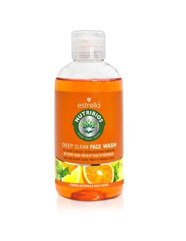 Nutribios Professional Natural Deep Clean Face wash for Clean, Clear, Glowing skin with Lemon, Satsuma & Holy Basil for Normal to Oily skin