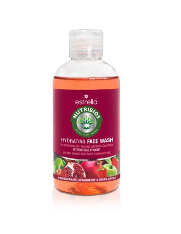 Nutribios Professional Natural Hydrating Face Wash for Refreshing Clear Skin with Pomegranate, Stawberry & Green Apple for Normal to Dry Skin (FRUITY) Face Wash (200 ml)