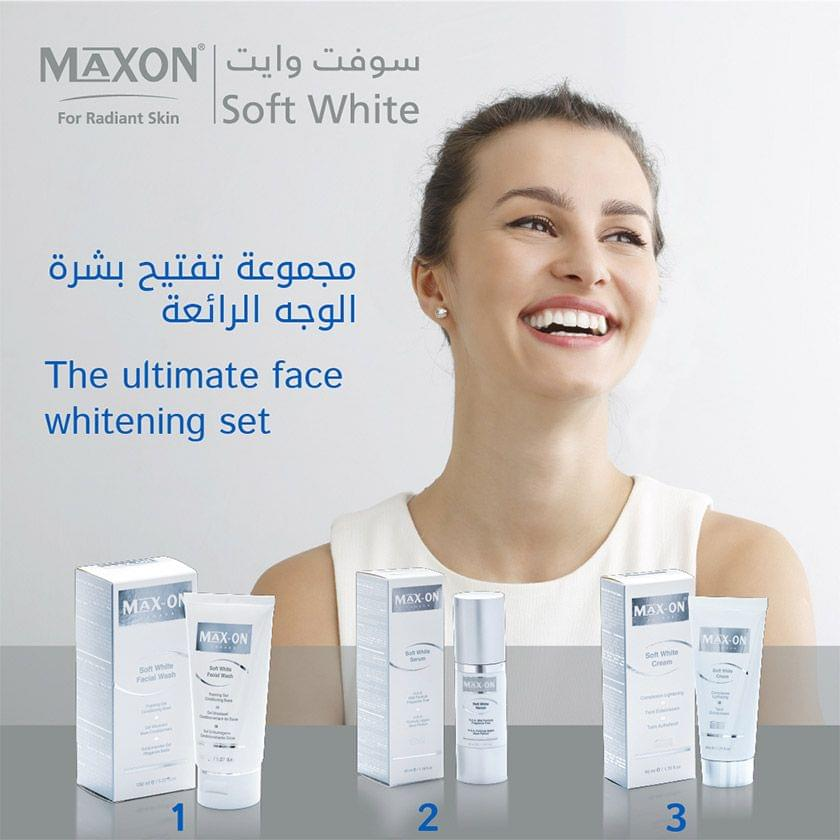 MAXON Soft White Face Set (SW Cream/Serum + free Facial wash)