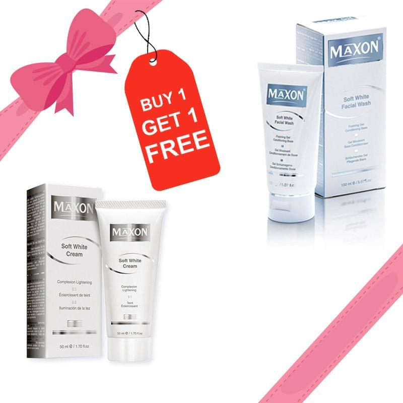 MAXON Skin Whitening Combo ( Soft white Cream + Softwhite Facial Wash)