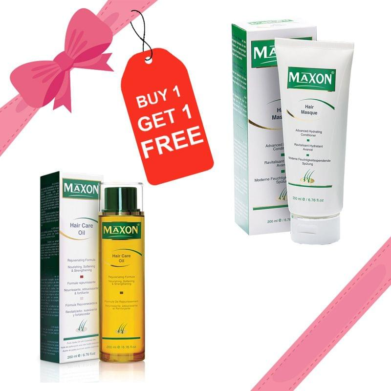 Hair Oil + Masque MAXON Hair Care Combo ( MAXON Hair Care Oil + MAXON Hair Care Masque) Buy 1 Get 1 Free