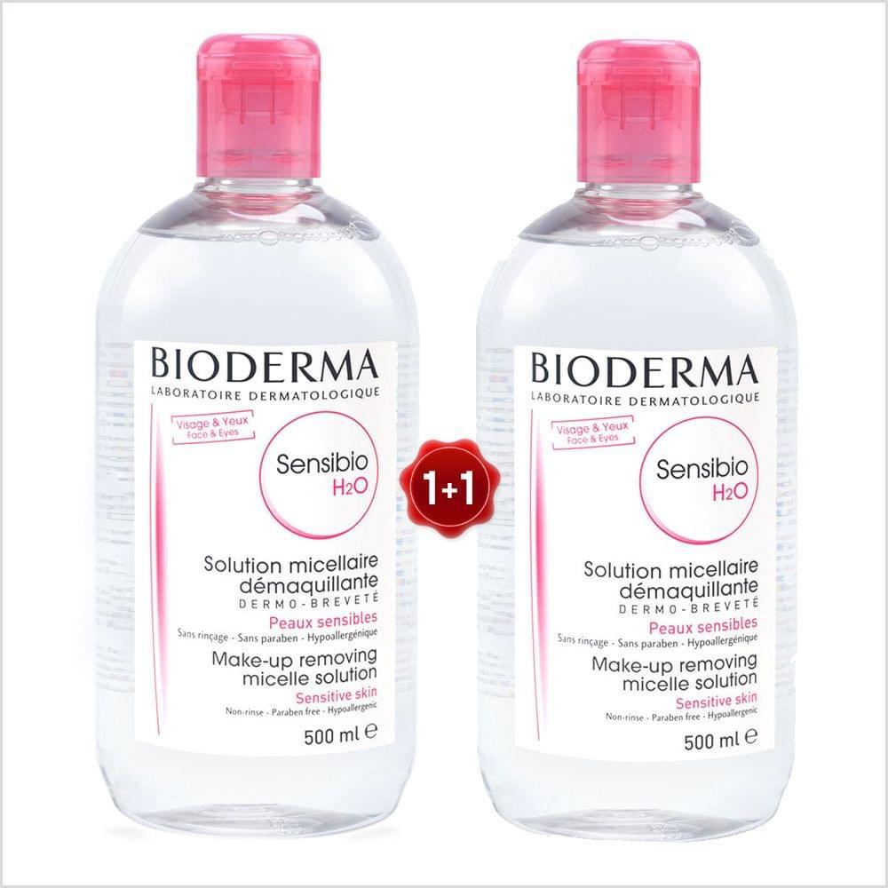 BIODERMA SENSIBIO H2O 500ML 1+1 FREE