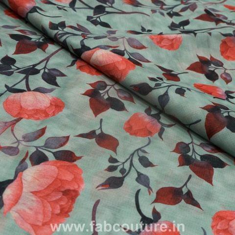 Linen Satin Print