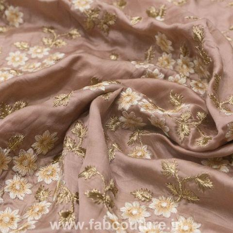 Modal satin Embroidery