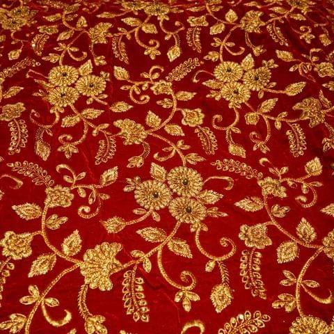 Embroidered Velvet
