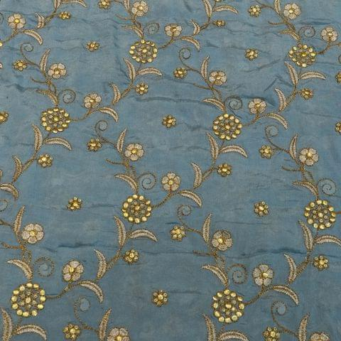 Chinon Chiffon Zari Embroidery