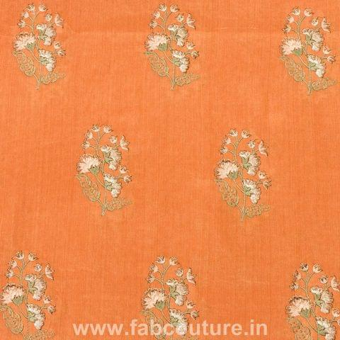 Tussar Chanderi Thread Embroidery
