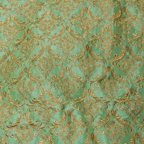 Poly Dupion Zari Embroidery