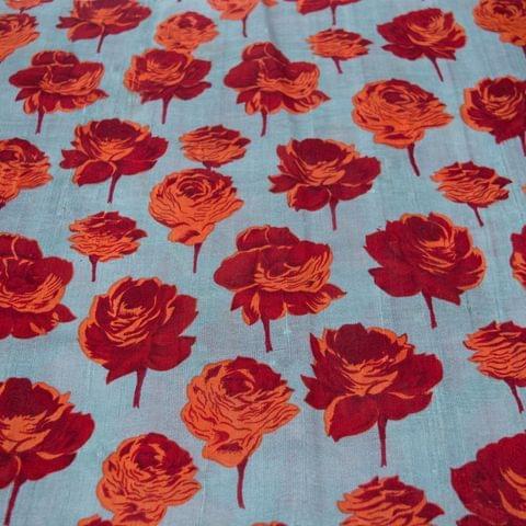 Pure Raw Silk Print