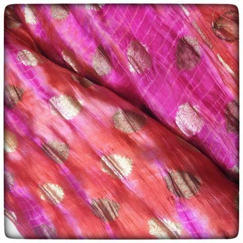 Pure Silk Booti Bandhej