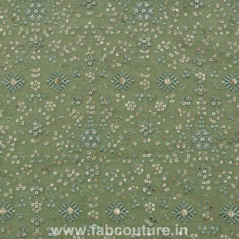 Chanderi Thread Sequins Embroidery