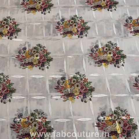 Cotton Rubia Embroidred Print