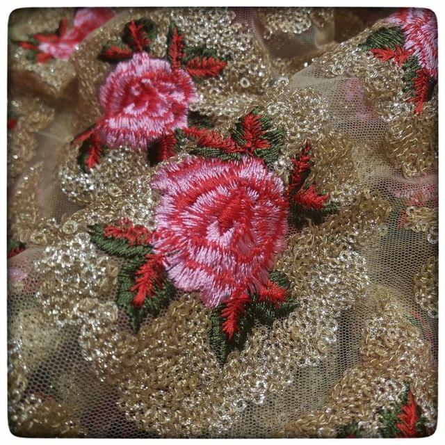 Net Sequins And Thread Embroidery