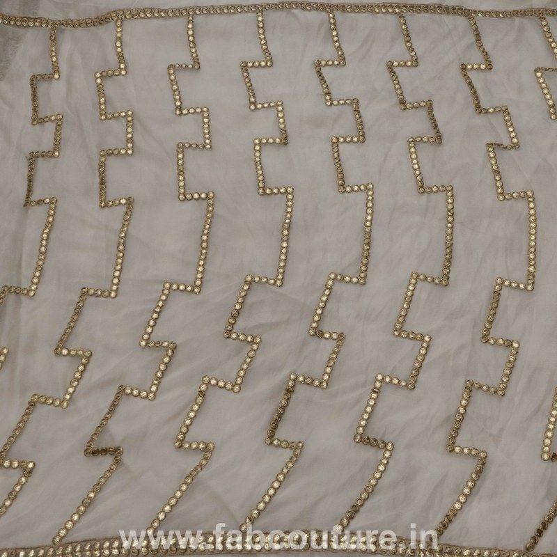 Chinon Chiffon Gota Embroidery Dupattas
