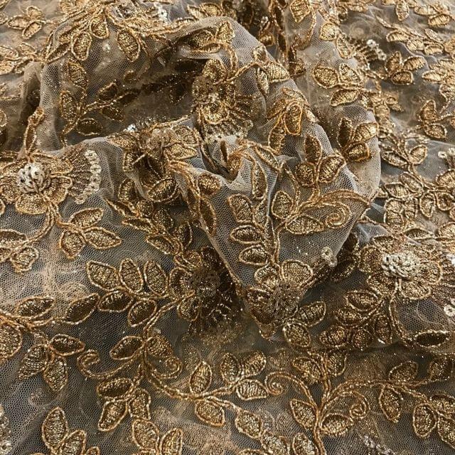 Net Zari Embroidery
