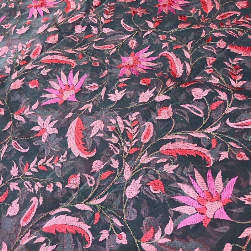 Georgette Thread Embroidery