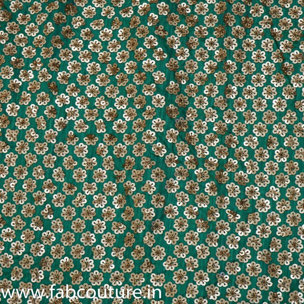 Poly Dupion Sequins Embroidery