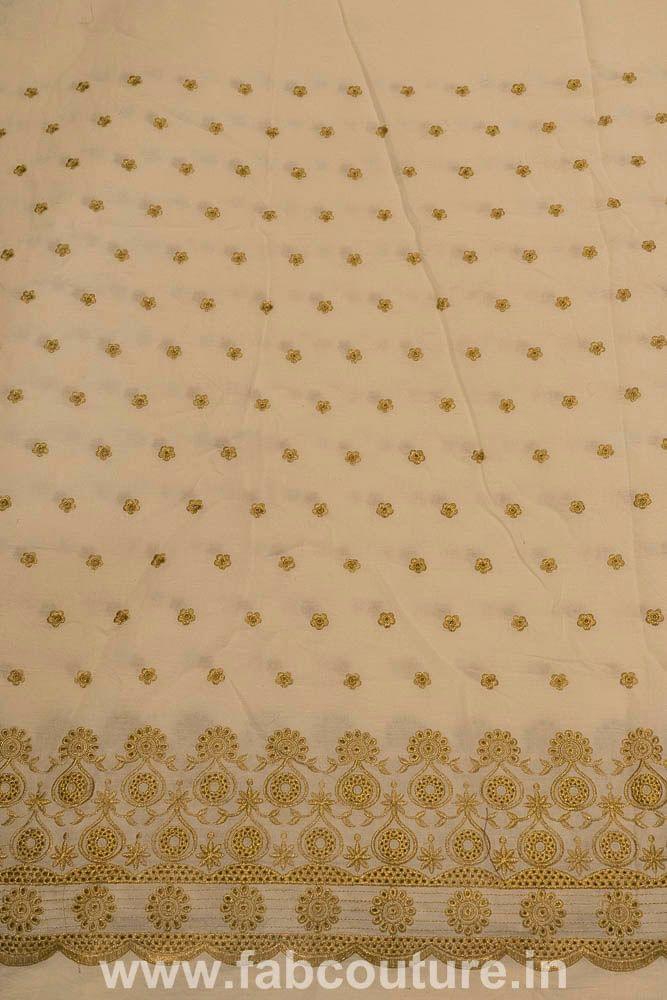 Cotton Border Zari Embroidery
