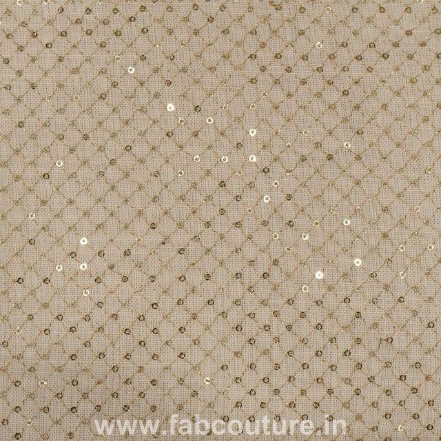 Cotton  Sequins Embroidery