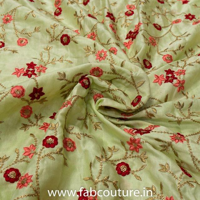 Linen Satin Embroidery