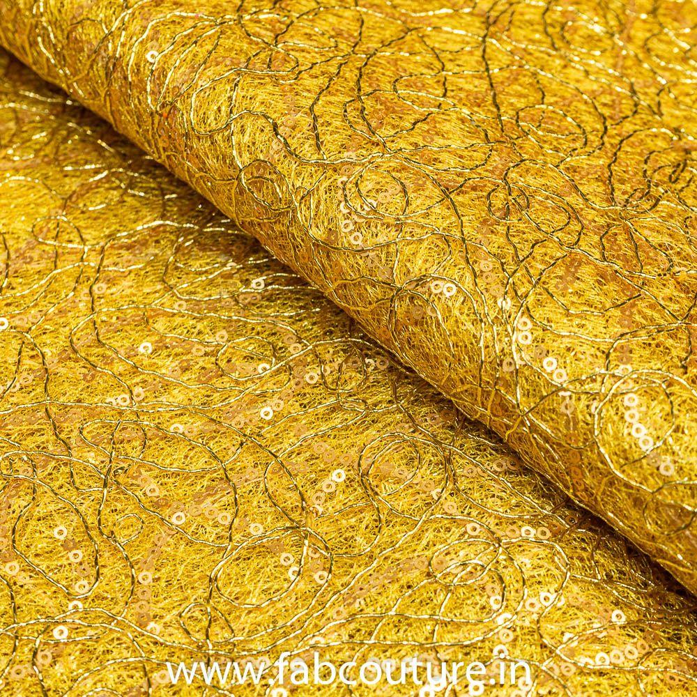 Mesh Zari N Sequence Embroidery