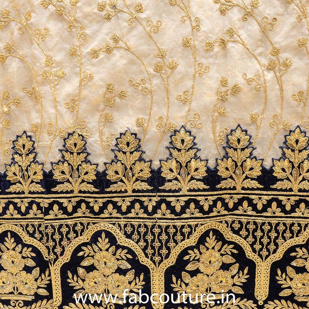 Organza Embroidery With Border