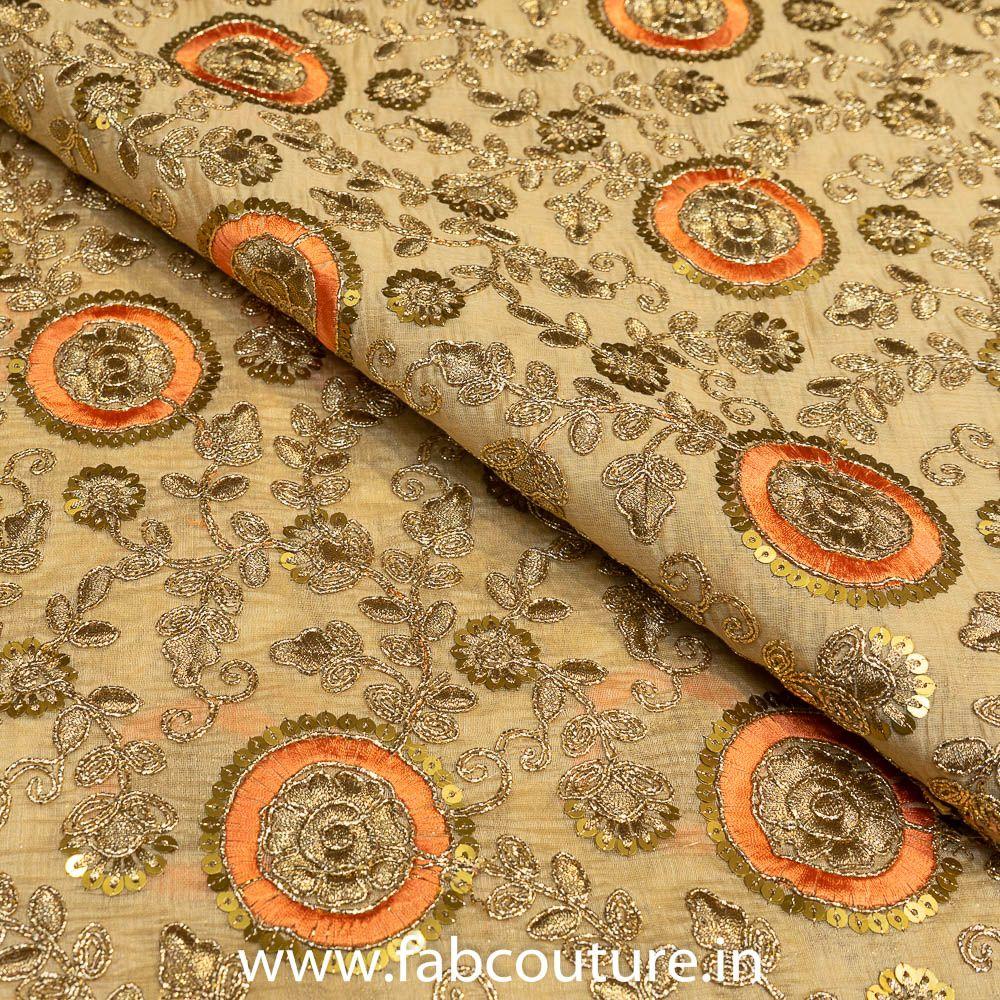 Tissue Chanderi Embroidery