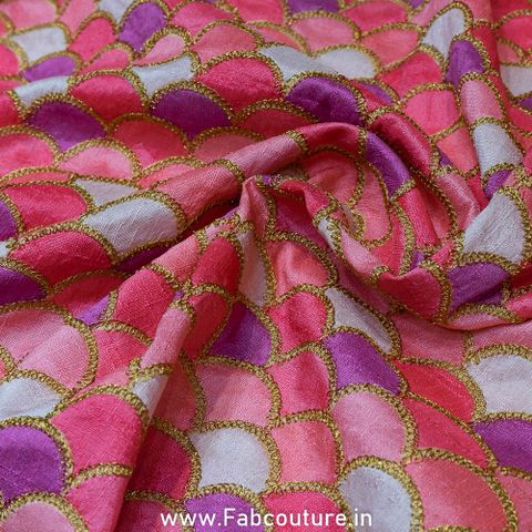 Poly dupion Print n Embroidery