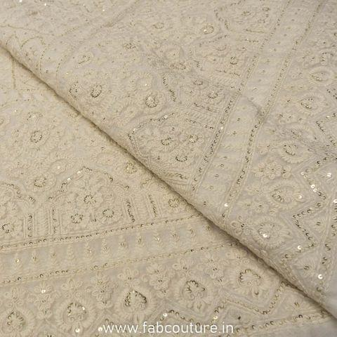 Georgette Lakhnawi Embroidery