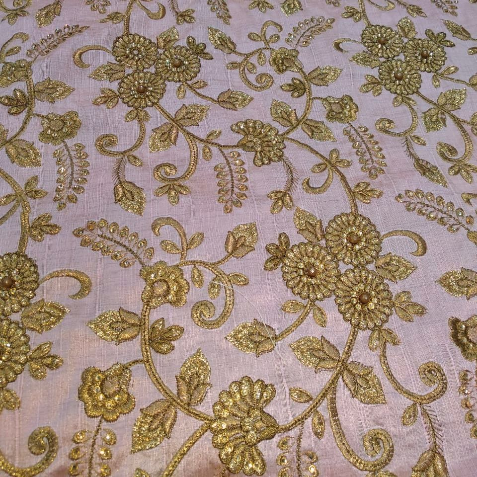 Poly Dupion Embroidery