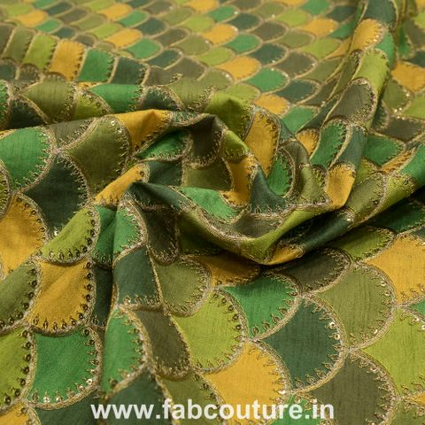 Poly dupion print & embroidery
