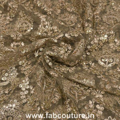 Net zari and sequence embroidery