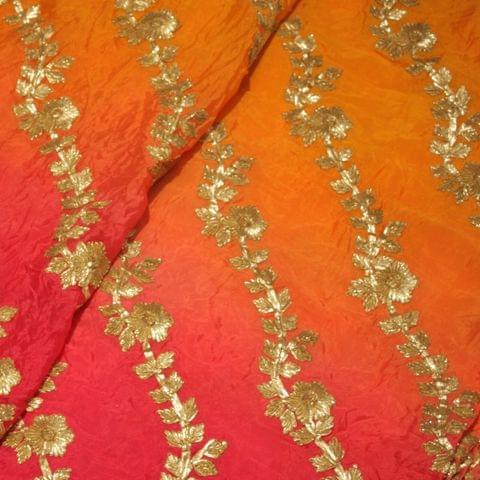 Shaded Viscose Chiffon Embroidery