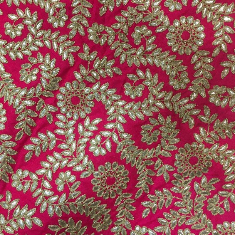 Poly Dupion Gota Embroidery
