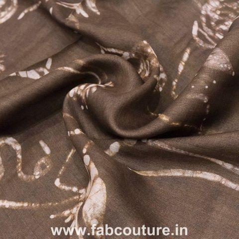Tussar Silk Batik Print