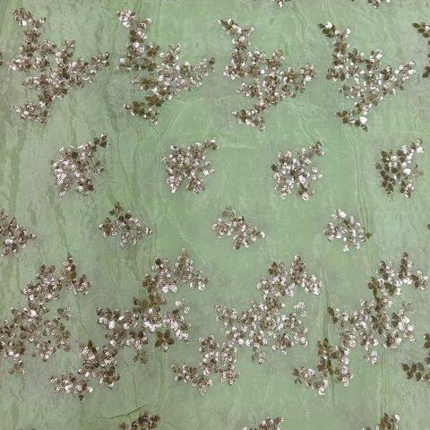 Chinon Chiffon Sequins Embroidery