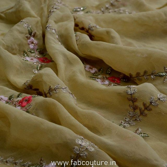 Georgette Border Embroidery